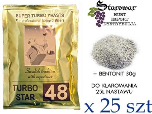 TURBO STAR 48 + BENTONIT 30G / 25SZT