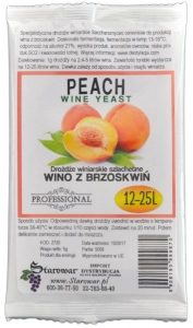 WINE YEAST PEACH - Drożdże winiarskie do wina z brzoskwiń